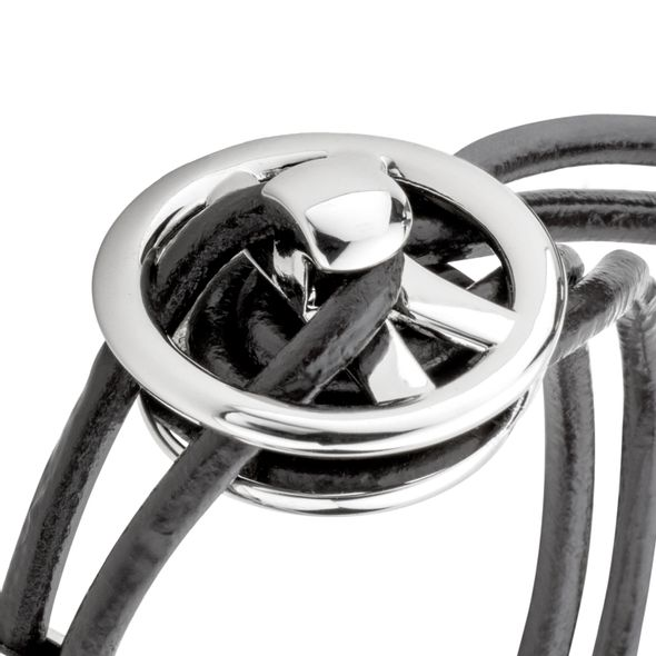 NASCAR Leather Cord Bracelet with Steering Wheel - Image 3