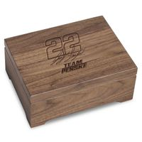 Joey Logano Solid Walnut Collector's Box