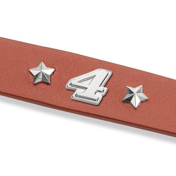 Kevin Harvick Leather Bracelet with #4 Rivet - Image 2