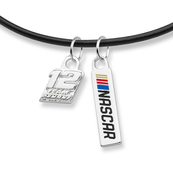 Ryan Blaney Leather Necklace with Two Charms - Image 2
