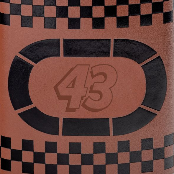 Bubba Wallace Retro Leather Flask - Image 2