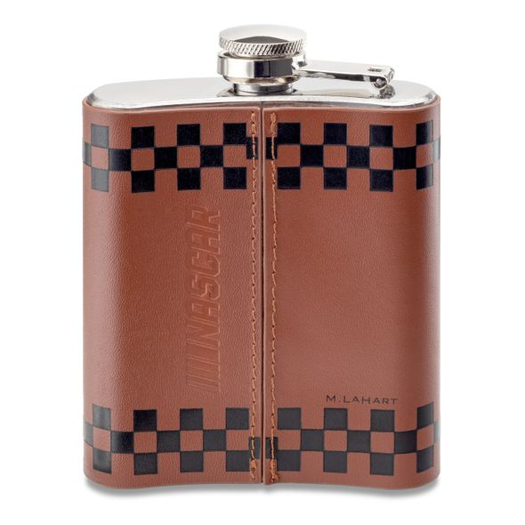 Bubba Wallace Retro Leather Flask - Image 3
