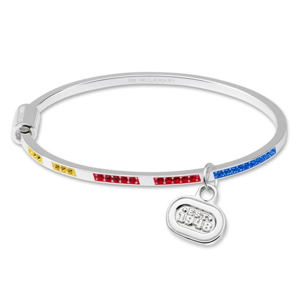 NASCAR Sterling Silver Bangle with EST. 1948 Charm