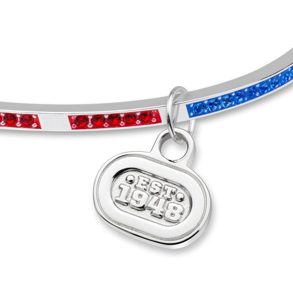 NASCAR Sterling Silver Bangle with EST. 1948 Charm - Image 2