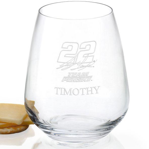 Joey Logano Stemless Wine Glass - Image 2