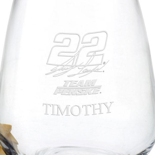 Joey Logano Stemless Wine Glass - Image 3