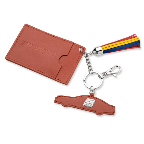 Joey Logano Leather Card Holder and Key Ring - Image 1