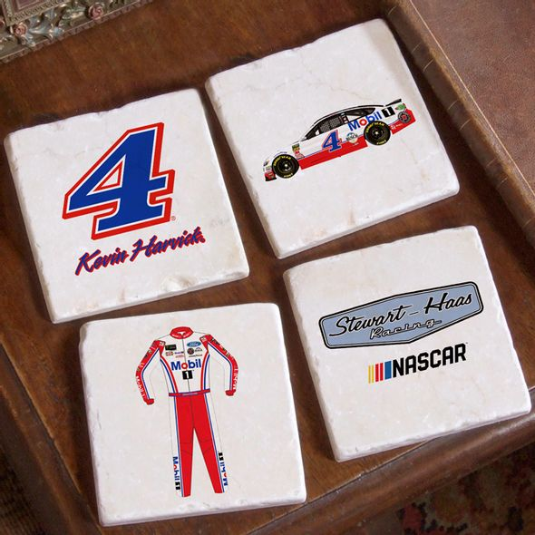 Kevin Harvick Marble Coasters