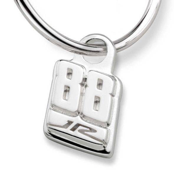 Dale Earnhardt Jr. Sterling Silver Hoop Earrings with #88 Charm - Image 2