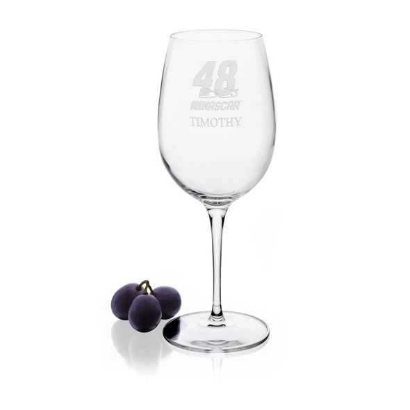 Jimmie Johnson Red Wine Glass