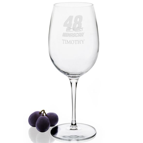 Jimmie Johnson Red Wine Glass - Image 2