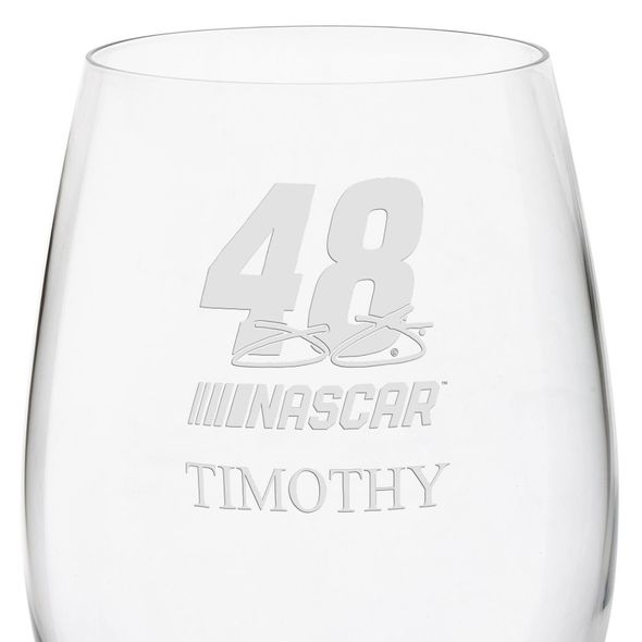 Jimmie Johnson Red Wine Glass - Image 3