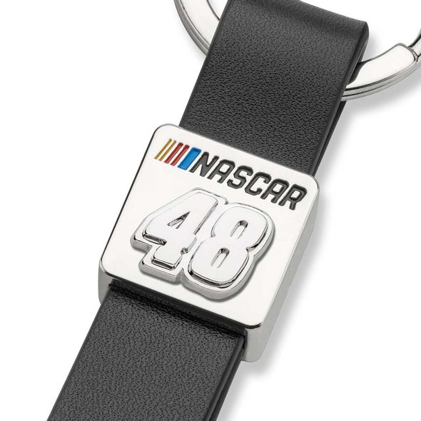 Jimmie Johnson #48 Leather Strap Key Ring - Image 2