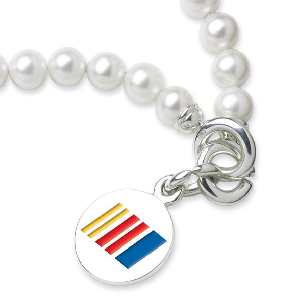 NASCAR Pearl Bracelet and Sterling Silver Charm with Enamel - Image 2