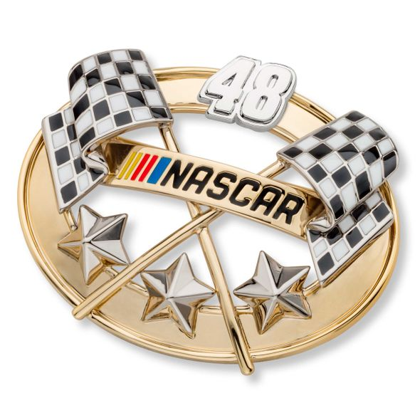 Jimmie Johnson Brooch Pin with #48