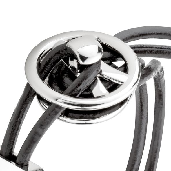 Kevin Harvick #4 Leather Cord Bracelet with Steering Wheel - Image 3