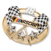 Kyle Busch Brooch Pin with #18