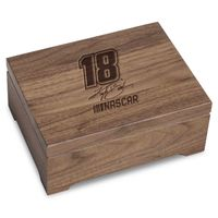 Kyle Busch Solid Walnut Collector's Box