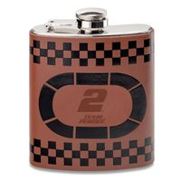 Brad Keselowski Retro Leather Flask