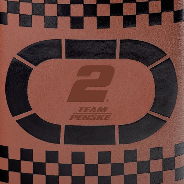 Brad Keselowski Retro Leather Flask - Image 2