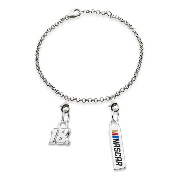 Kyle Busch #18 Sterling Silver Anklet with Two Charms