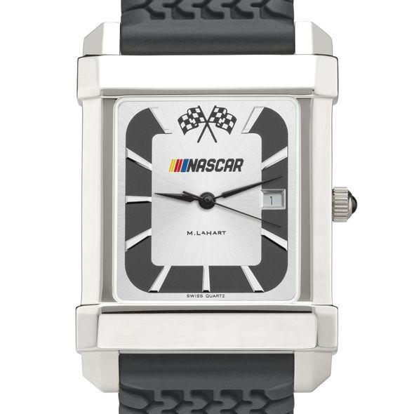 NASCAR Men's Steel Watch with Rubber Strap