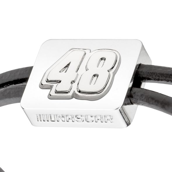 Jimmie Johnson #48 Leather Cord Bracelet with Steering Wheel - Image 2