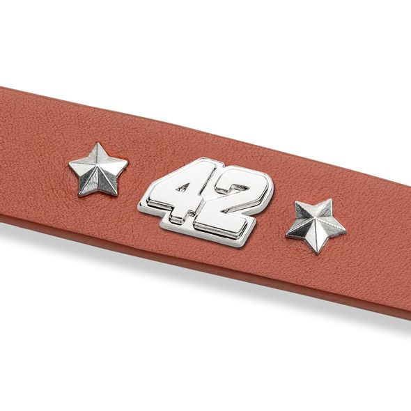 Kyle Larson Leather Bracelet with #42 Rivet - Image 2