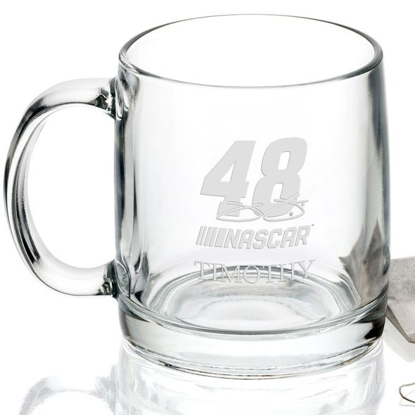 Jimmie Johnson Glass Coffee Mug - Image 2
