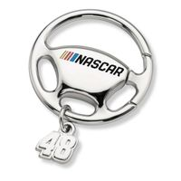 Jimmie Johnson Steering Wheel Key Ring with #48 Charm