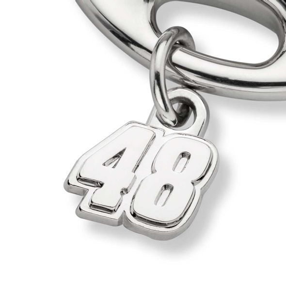 Jimmie Johnson Steering Wheel Key Ring with #48 Charm - Image 2