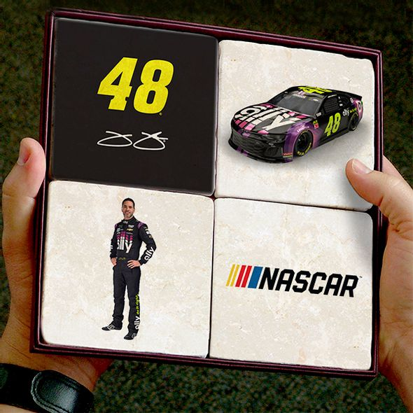 Jimmie Johnson Marble Coasters
