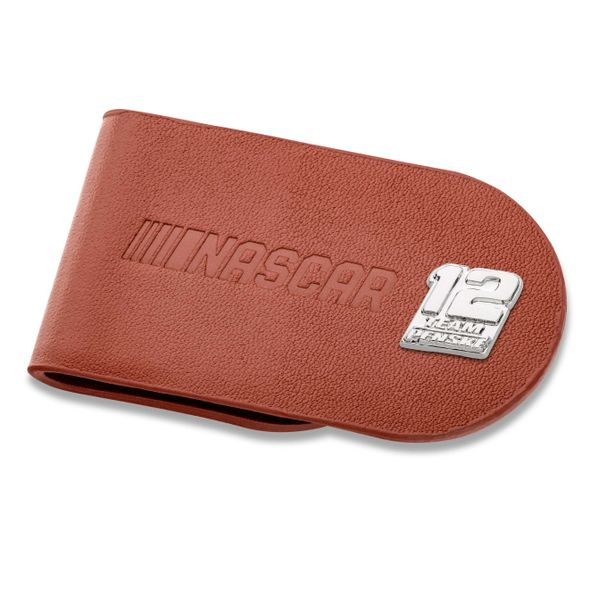 Ryan Blaney #12 Leather Money Clip - Image 1