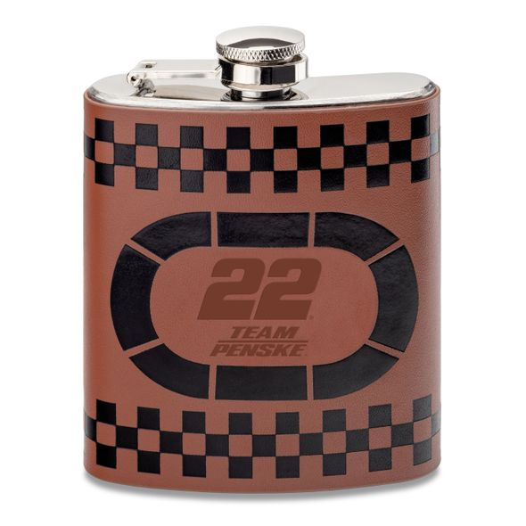 Joey Logano Retro Leather Flask - Image 1