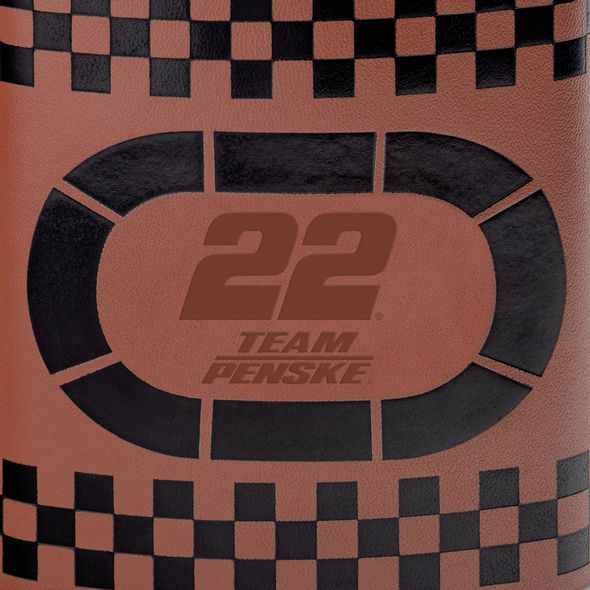 Joey Logano Retro Leather Flask - Image 2