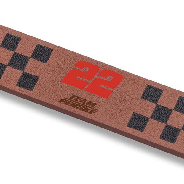 Joey Logano Leather Cuff Bracelet with #22 - Image 2
