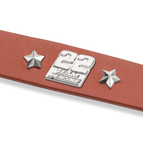 Joey Logano Leather Bracelet with #22 Rivet - Image 2