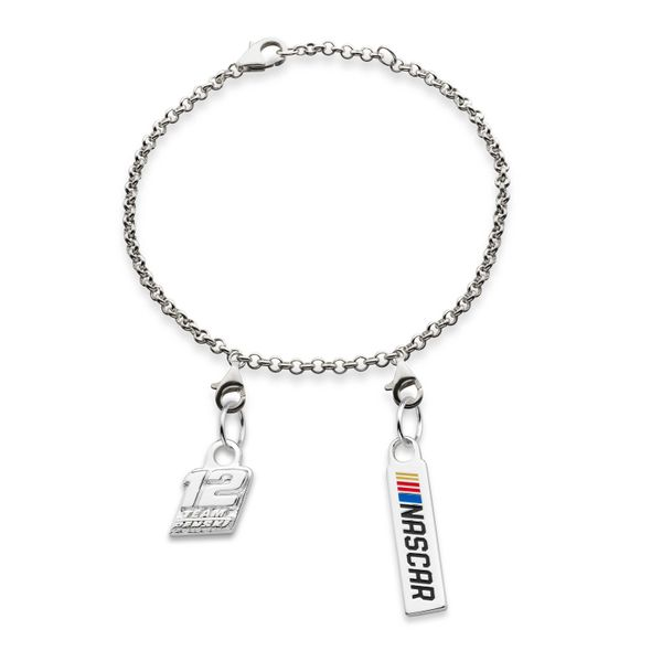 Ryan Blaney #12 Sterling Silver Anklet with Two Charms