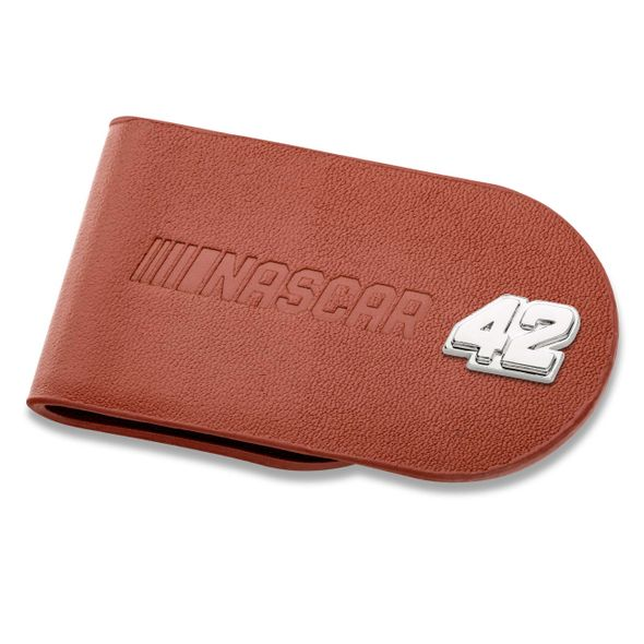 Kyle Larson #42 Leather Money Clip