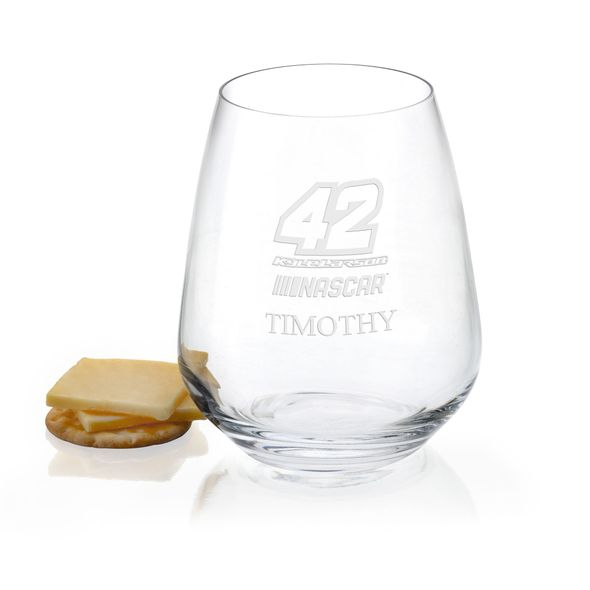 Kyle Larson Stemless Wine Glass