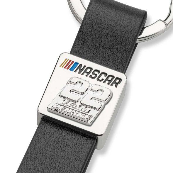 Joey Logano #22 Leather Strap Key Ring - Image 2