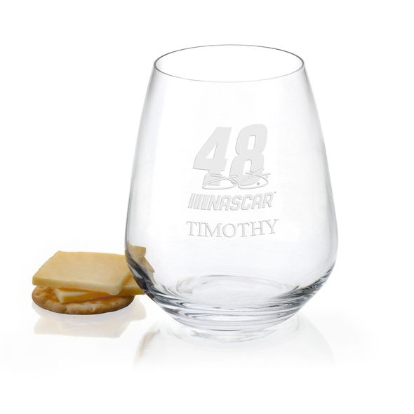 Jimmie Johnson Stemless Wine Glass