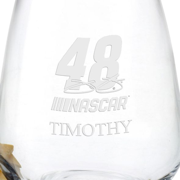 Jimmie Johnson Stemless Wine Glass - Image 3