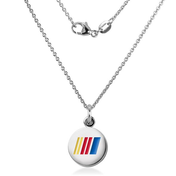 NASCAR Sterling Silver Necklace and Charm with Enamel - Image 2