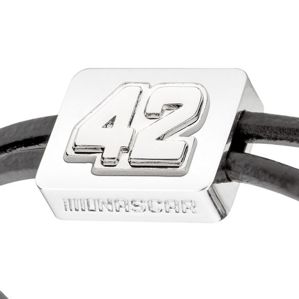 Kyle Larson #42 Leather Cord Bracelet with Steering Wheel - Image 2